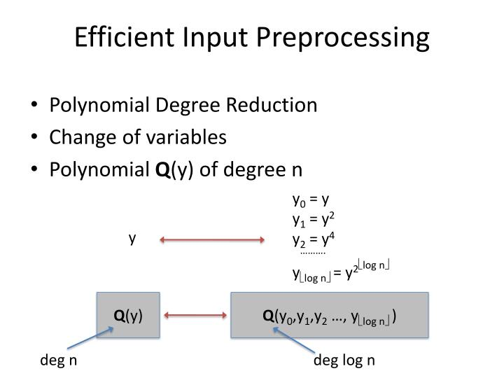 Efficient Input Preprocessing
