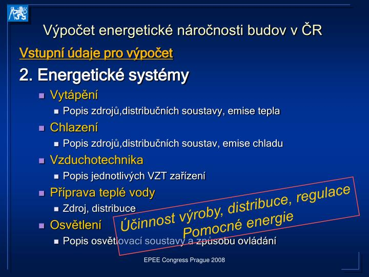 Výpočet energetické náročnosti budov v ČR