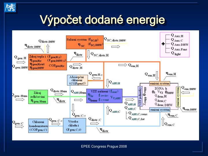 Výpočet dodané energie