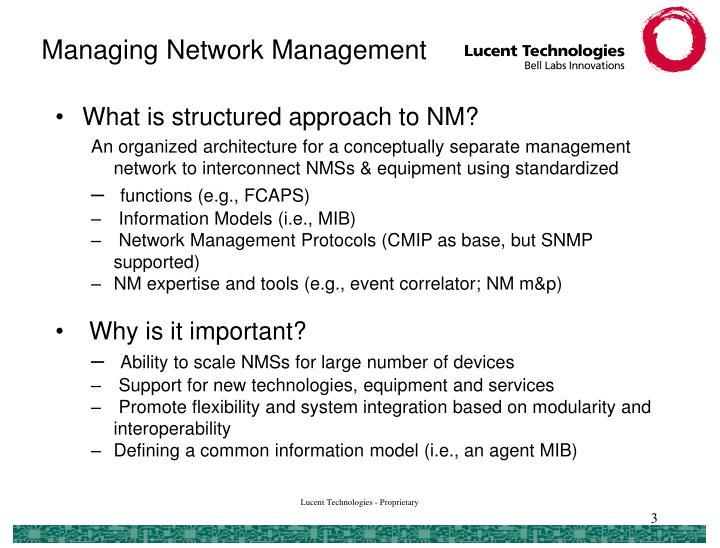 Managing Network Management