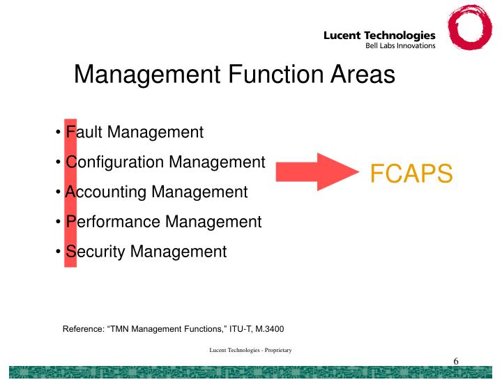 Management Function Areas