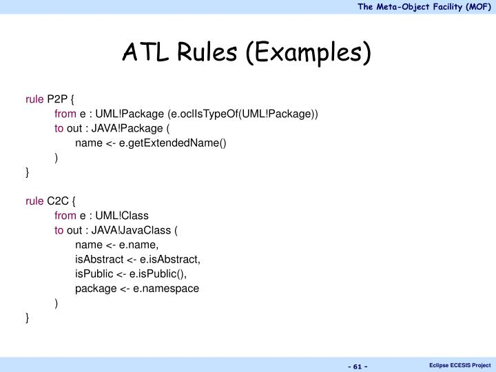ATL Rules (Examples)
