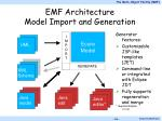emf architecture model import and generation