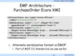 emf architecture purchaseorder ecore xmi