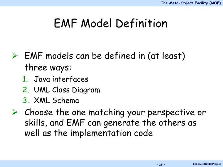 EMF Model Definition