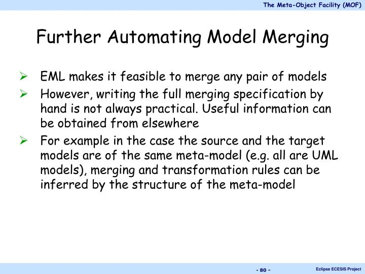 Further Automating Model Merging