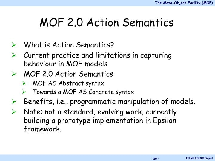 MOF 2.0 Action Semantics