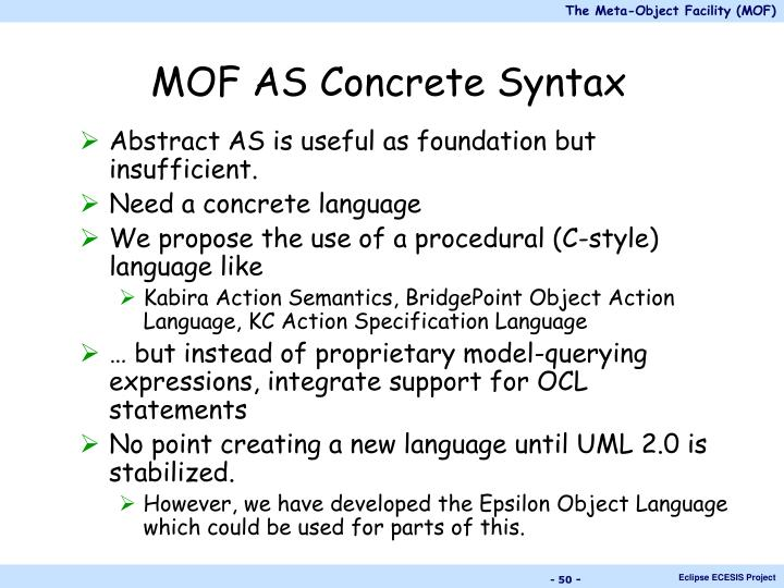 MOF AS Concrete Syntax