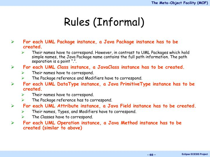 Rules (Informal)