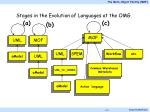 stages in the evolution of languages at the omg