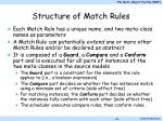 structure of match rules