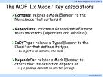 the mof 1 x model key associations
