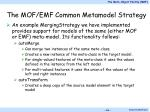 the mof emf common metamodel strategy