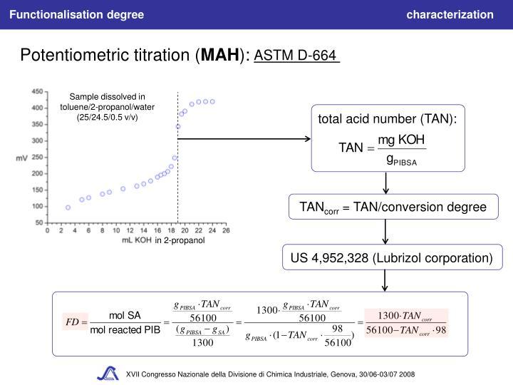 Sample dissolved in toluene/2-propanol/water (25/24.5/0.5 v/v)