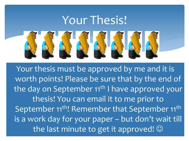 Your Thesis!