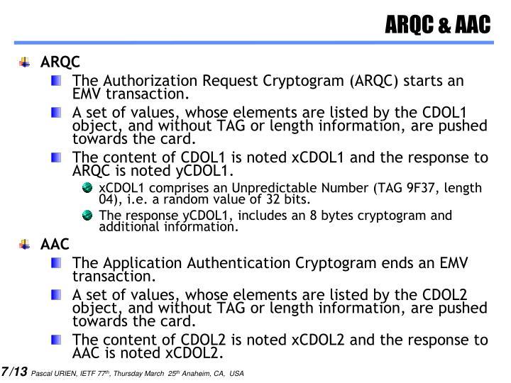 ARQC & AAC