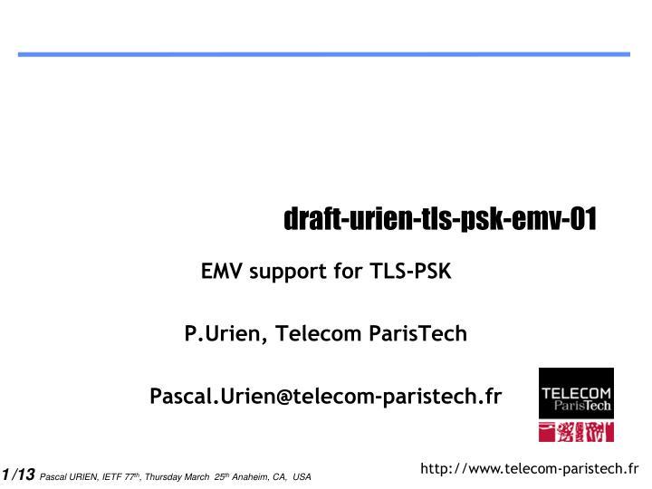 draft-urien-tls-psk-emv-01