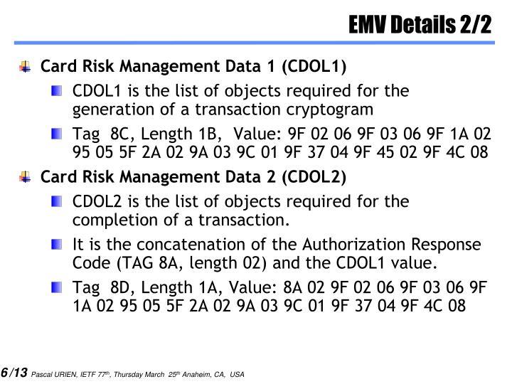 EMV Details 2/2