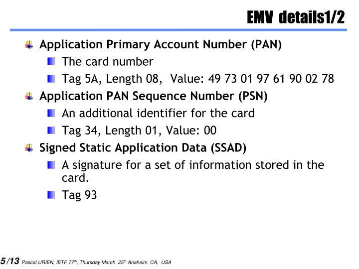 EMV  details1/2
