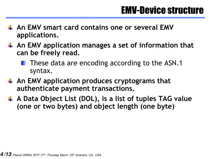 EMV-Device structure