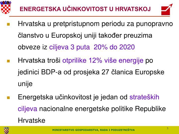 ENERGETSKA UČINKOVITOST U HRVATSKOJ