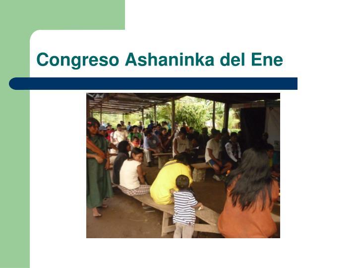 Congreso Ashaninka del Ene
