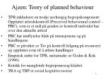 ajzen teory of planned behaviour