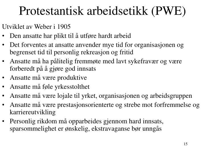 Protestantisk arbeidsetikk (PWE)