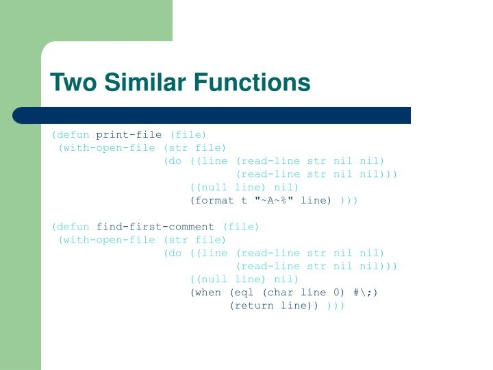 Two similar functions