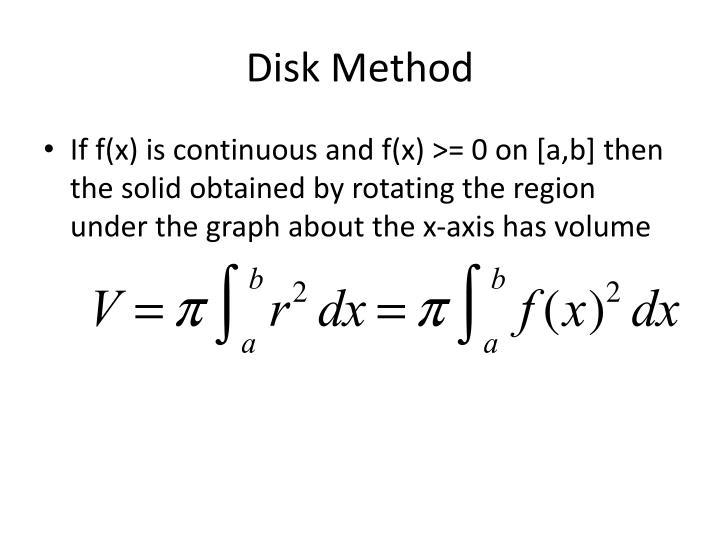 Disk Method