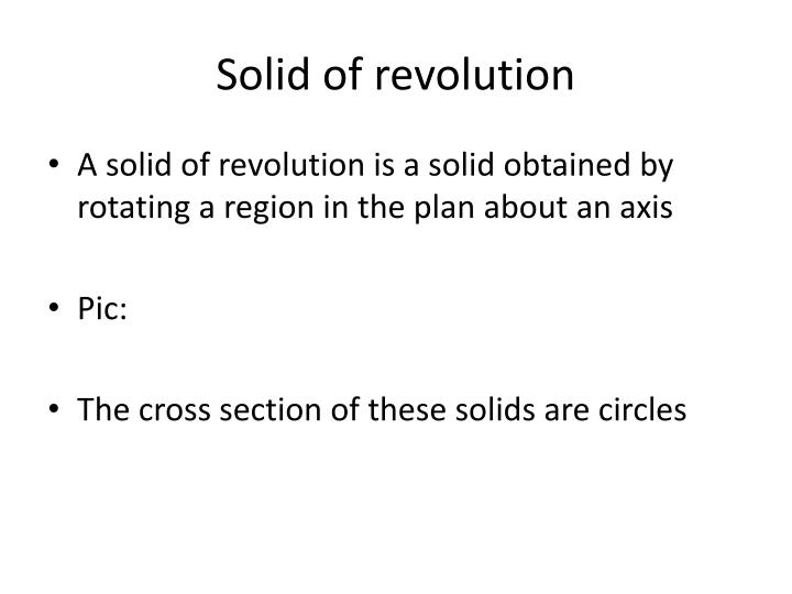 Solid of revolution