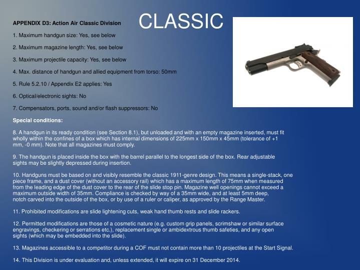 APPENDIX D3: Action Air Classic Division