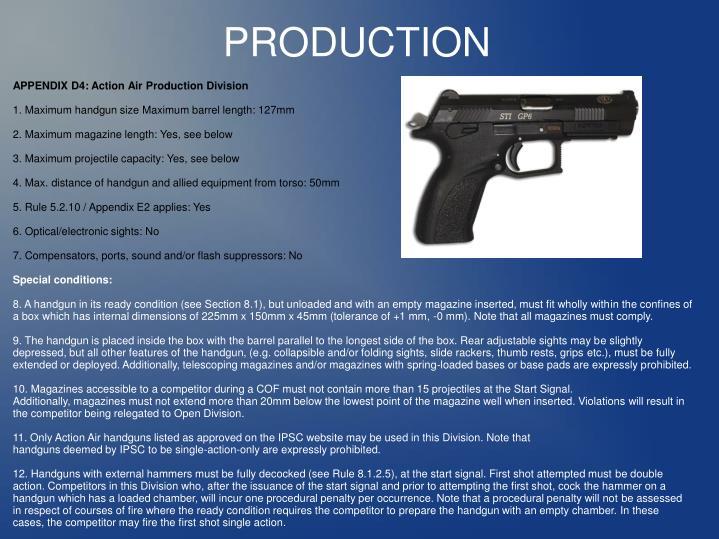APPENDIX D4: Action Air Production Division