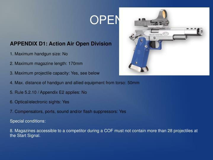 APPENDIX D1: Action Air Open Division