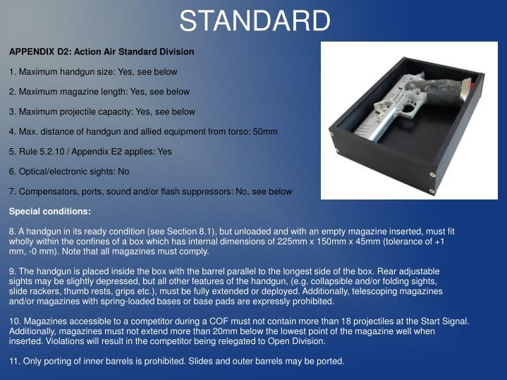 APPENDIX D2: Action Air Standard Division