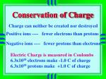 conservation of charge