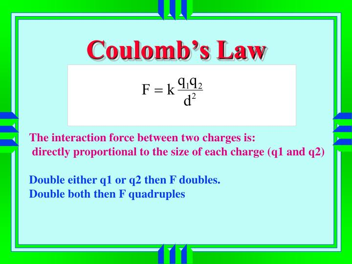 Coulomb's Law