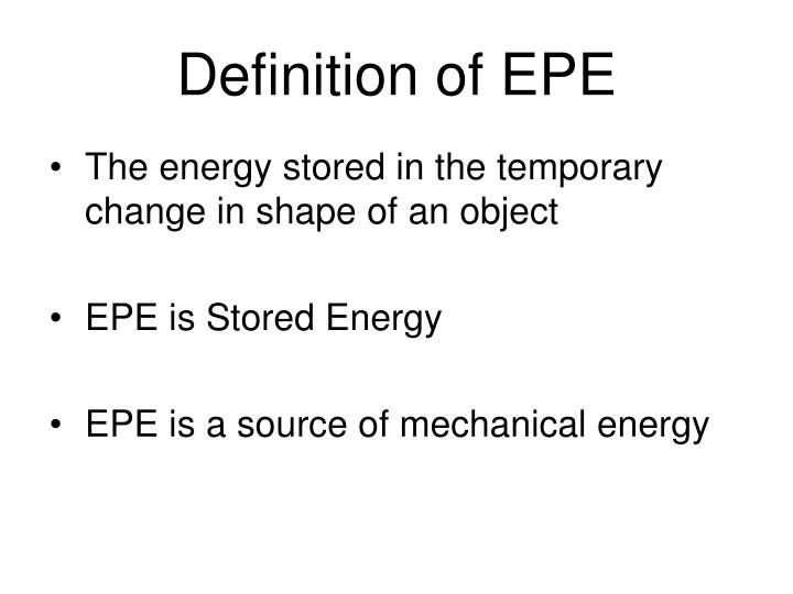 Definition of EPE