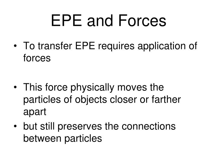 EPE and Forces