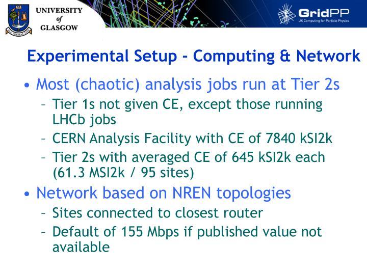 Experimental Setup - Computing & Network