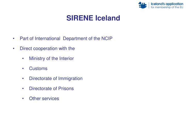 SIRENE Iceland