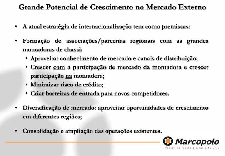 Grande Potencial de Crescimento no Mercado Externo