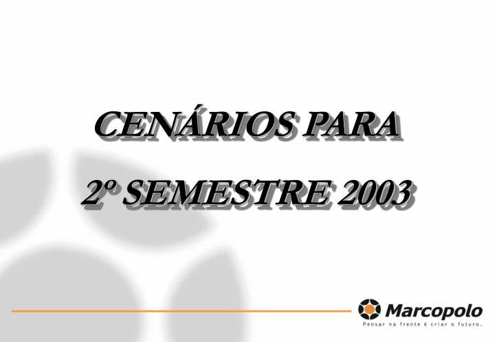 CENÁRIOS PARA