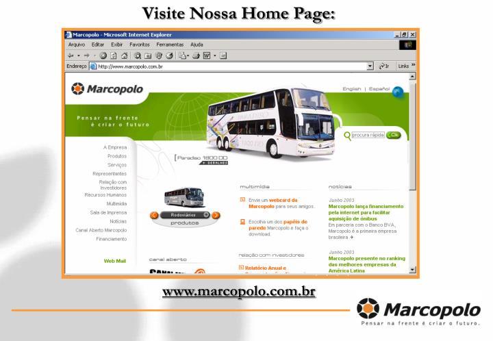Visite Nossa Home Page: