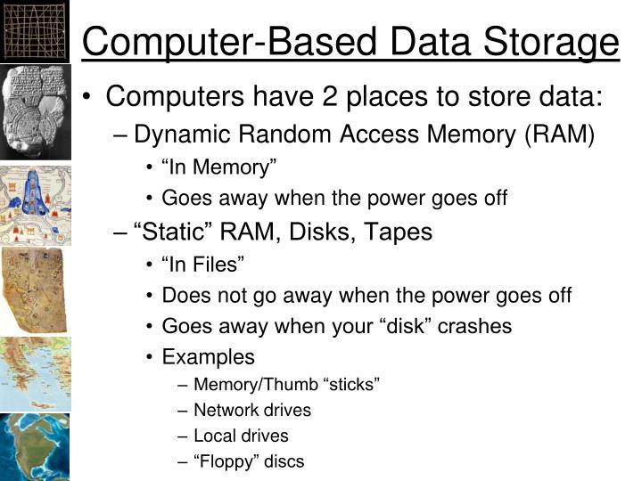 Computer-Based Data Storage