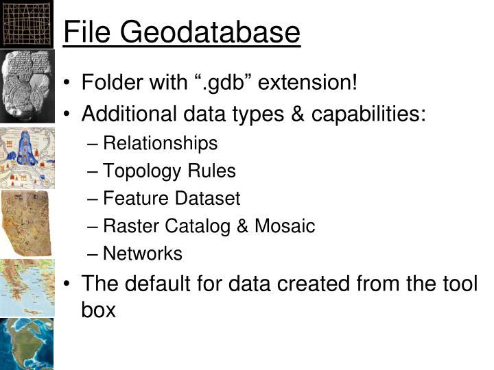 File Geodatabase