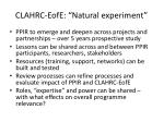 clahrc eofe natural experiment