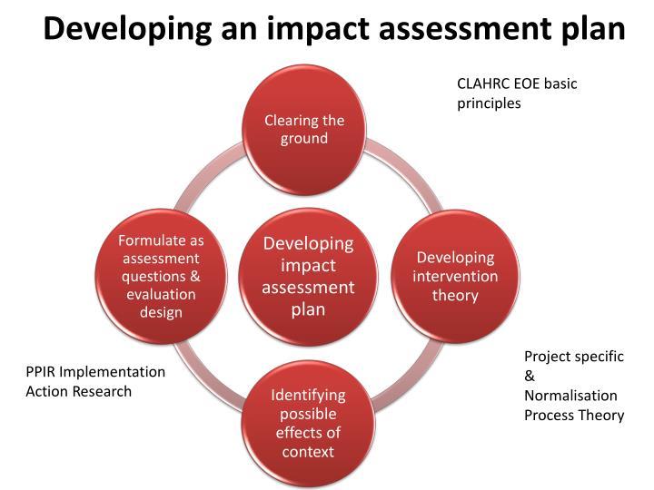 Developing an impact assessment plan