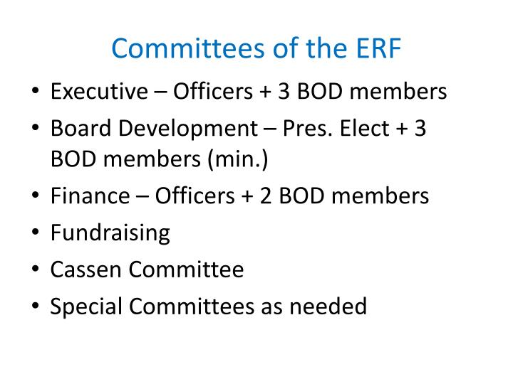 Committees of the ERF