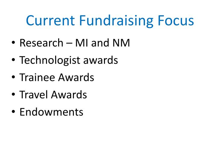 Current Fundraising Focus